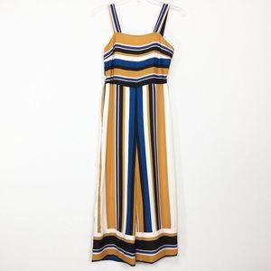 NWT Japna Striped Wide Leg Crop Jumpsuit